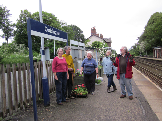 Cuddington Volunteers at work in 2011